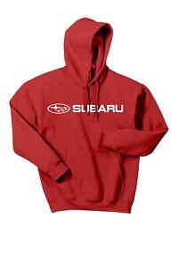 Subaru Logo Red Basic Pullover Forester Impreza WRX STI Hoodie NEW SWEATSHIRT