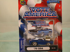 """1970  Cuda 1:64 scale by Muscle Machines-  """"VOTE AMERICA"""""""