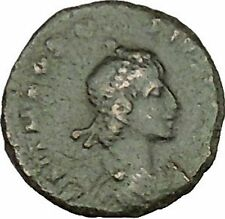 THEODOSIUS I 379AD Authentic  Ancient Roman Coin Wreath of success  i39484