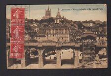 """LAUSANNE (SUISSE) PONT & TOUR PUBLICITAIRE """"CHOCOLAT KOHLER"""" animé en 1936"""