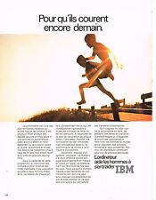 PUBLICITE  advertising 1971   IBM   ordinateurs