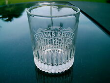CHIVAS REGAL 12  YEAR OLD WHISKEY GLASS  CLEAR CROSSED SWORDS NICE REPLACEMENT