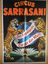 CIRCUS  SARRASANI   1984  --  original POSTER -  sehr selten  100 X 70 cm