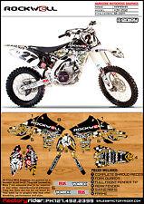 Rockwell Yamaha Motocross Graphics  YZF 250 2010-2012 Dirt Bike Graphics DECO