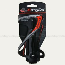 EasyDo Bike Aluminum Water Bottle Cage Black Red Water Bottle Holder