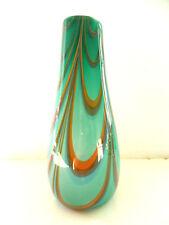 schöne Glas Vase 60/70er Jahre Design Vase mit Abriss
