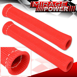 Universal Slip On Spark Plug Wire Heat Sleeve Insulation Wrap N/A 1200° Red