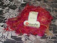 NEW YARN ART TECNO Orange and Red 50 g Soft Yarn Polyamide Made in Turkey