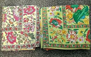 "2 April Cornell Tablecloths Floral 60"" x 100"" Cotton Rectangular No Stains"