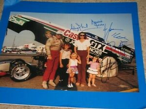 JOHN FORCE, COURTNEY FORCE ,BRITTANY, ASHLEY, LAURIE SIGNED 12X18 PHOTO coa
