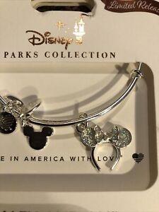 Disney Alex & Ani Minnie Mouse Ear Silver Headband Bangle Bracelet Limited 2021