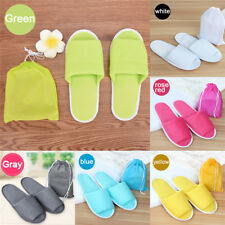 Home Hotel Breathable Anti-Slip Slippers SPA Cotton With Storage Bag CN  35-43