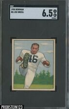1950 Bowman Football #6 Lou Groza Cleveland Browns RC Rookie HOF SGC 6.5 EX-NM+