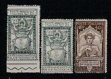 FRANCOBOLLI - 1921 REGNO DANTE C. 25+25+40 MNH Z/7186