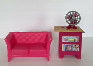 Barbie 2015 Dream House Vanity With Light Up Fan Couch Sofa