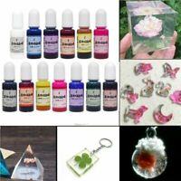 13 piezas de resina epoxi UV accesorios para colorear resina tinte DIY artesanía
