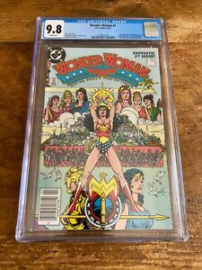 Wonder Woman #1  DC Comics 1987 Newsstand 1st Modern Age App Themyscira CGC 9.8