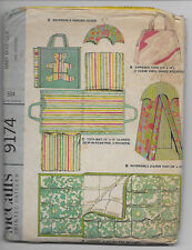 McCalls 9174 Baby Boutique Tote Diaper Tent Sleeping Bag Vtg 1968 New Uncut