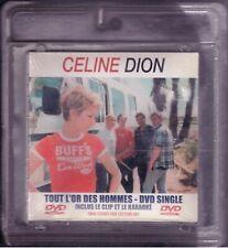 CELINE DION - TOUT L'OR DES HOMMES  - DVD  SINGLE NEUF SOUS BLISTER