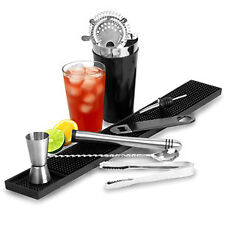 Black Cocktail Shaker Set | Vinyl Coated Cocktail Set
