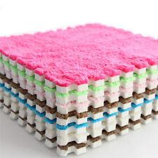 10 stk Thermo Fleece Schaumstoff EVA Puzzlematte Kinder Bodenmatten Turnmatte