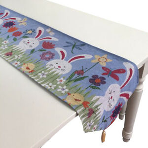 Happy Easter Table Runner Cloth Table Cloth Runner for Wedding Party
