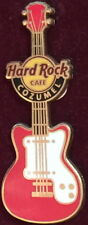 Hard Rock Cafe COZUMEL 2010 Red & White Guitar PIN on CARD - HRC Catalog #57165