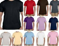 Shirt - Crew Neck - Short Sleeve T  -  Plain - Cotton - Blank - Solid - Sm - 5X