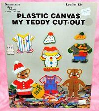 Needlecraft Ala Mode My Teddy Bear Cut-Out Doll w/Clothes Plastic Canvas Leaflet