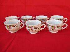 7 Rare Vintage FAO Schwarz Child's Bone China Toy Tea Cups, Japan c.1940