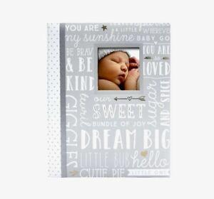 New Lil Peach Gray Big Word Play Baby Memory Keepsake Book Unisex
