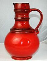 Vase 60er 70er 60s 70s 26 cm ähnl Fat Lava German pottery rot vintage Midcentury