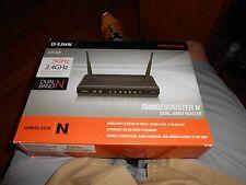D-Link RangeBooster N DIR-628 Dual Band Router - Box, CD, & Adapter