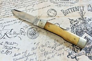 Parker Cutlery Company Big Lou Smooth Bone Jumbo Gunstock 1 Blade Knife
