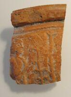 Roman terra-sigillata legionary bowl fragment.1st-2nd century AD.RARE!