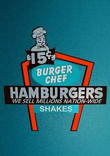 PHOTO MAGNET Advertising Sign Burger Chef Fast Food