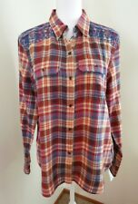 CHAPS by Ralph Lauren Women's Western Style Button Front Shirt~Size Large