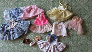 Vintage Mattel Bouncy Baby,Vogue Lil Imp Rollerblade Ideal Doll Clothes Lot*Tags