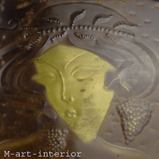 altes Bild Japanerin Relief Messing Blech Patiniert im Jugendstil 45 x 28,5 cm