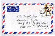 BQ313 Asia 1976 Malaysia MELAKA Commercial Airmail Cover BUTTERFLIES {samwells}