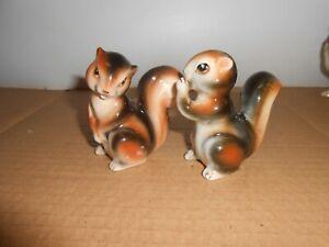 vintage salt & pepper shakers squirrels animals