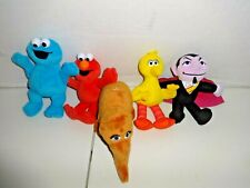 Lot Sesame Street Big Bird Snuffleupagus Elmo Count Cookie Monster Plush Stuffed