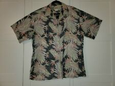 COOKE STREET Men's XXL Hawaiian button-up shirt 100% cotton Floral Reverse Print