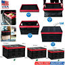 Collapsible Folding Storage Cart Organizer Container Box Utility Crates w/ Lid