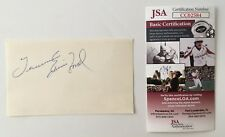 Tennessee Ernie Ford Signed Autographed 3x5 Card JSA Certified