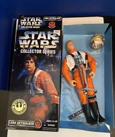 "1996 Star Wars Collector Series Luke Skywalker/ X Wing Gear- 12"" action figure"