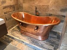 "Copper Bathtub ""Roman Cleopatra"" Hand Made Package Deal"