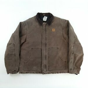Vintage Carhartt Quilt Lined Jacket Brown XL