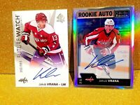 2016-17 JAKUB VRANA Future Watch Autograph /999 Rookie Auto Rainbow OPC Platinum