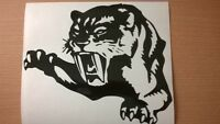 """SMALL 7X6""""  tiger head claws tribal vinyl graphics decals car stickers lion FUN"""